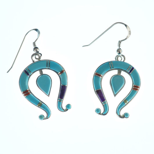 Navajo Jewelry Mosaic Naja Earrings by Earl Plummer