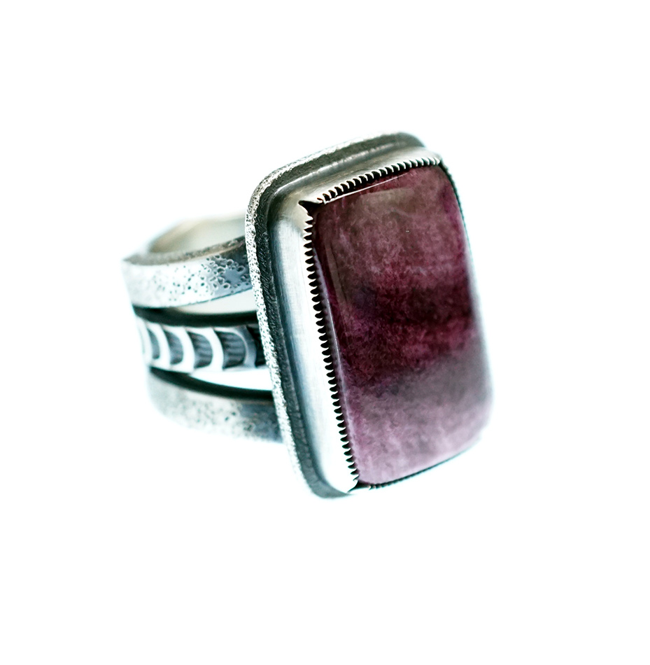 Navajo Sterling and Spiny Oyster Ring Size 10 14