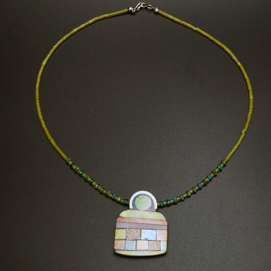 Native American Jewelry Kewa Artist Mary Tafoya Angel Necklace