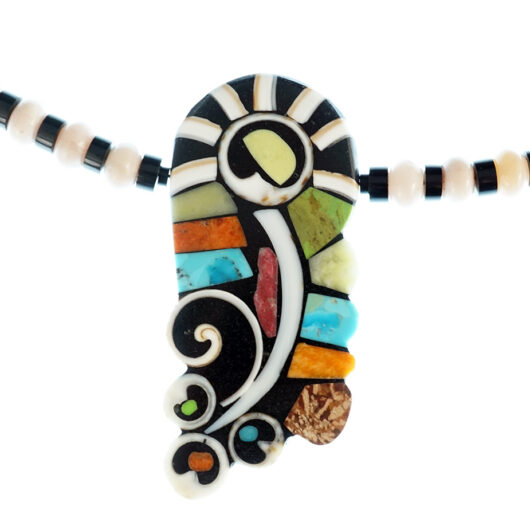 Mary Tafoya Mosaic Flower Necklace Native American Jewelry