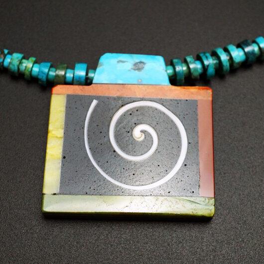 Native American Jewelry Artist Mary Tafoya Swirl Necklace