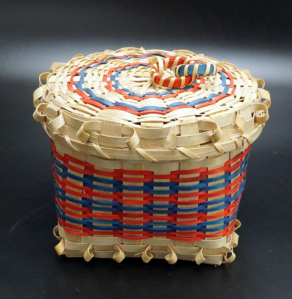 Wabanaki Covered Ash and Sweetgrass Basket