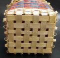 Multi-color Wabanaki ash sweetgrass basket ME00566-5