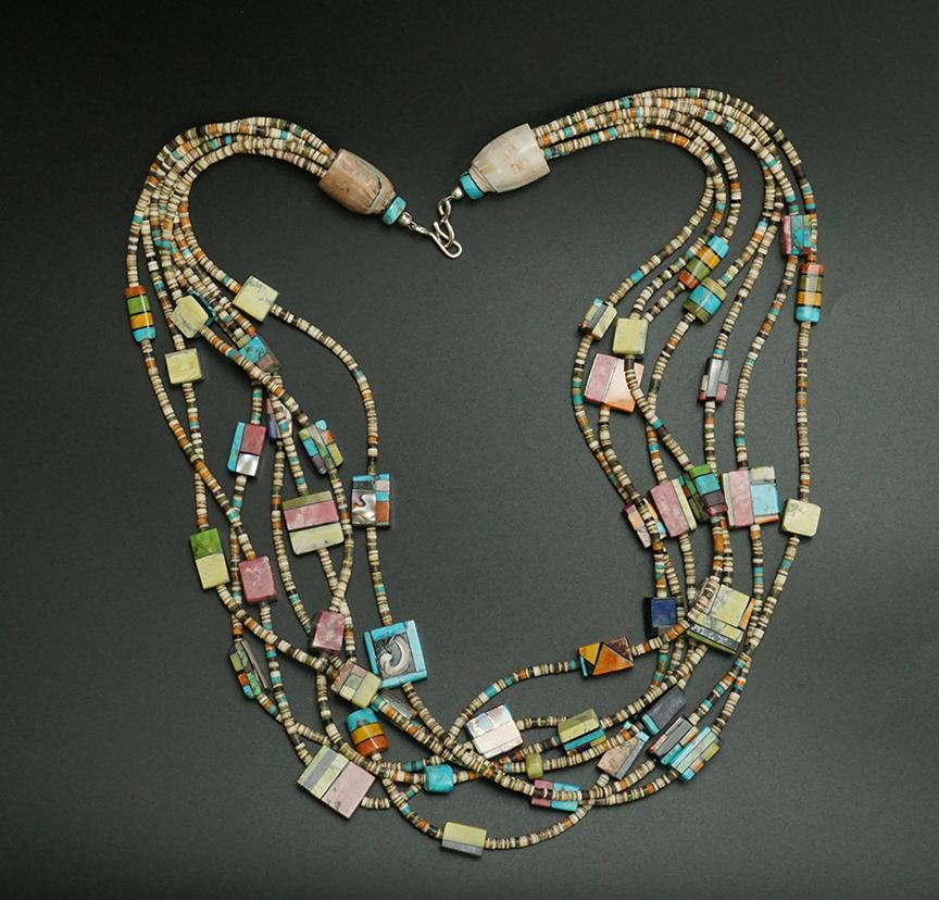 Mary Tafoya Kewa Charm Necklace