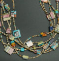 Mary Tafoya Kewa Pueblo Charm Necklace SWJ01979-3