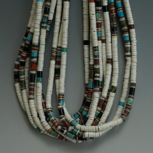 Santo Domingo Pueblo Deanna Tenorio Ten Strand Clam Shell Necklace
