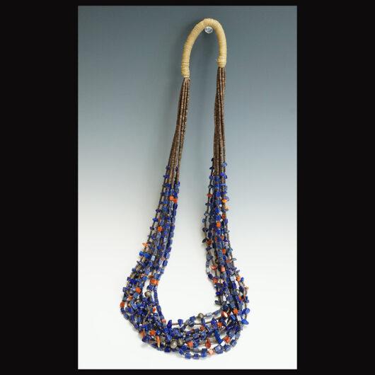 Ten Strand Lapis Lazuli Necklace Santo Domingo Artist Deanna Tenorio
