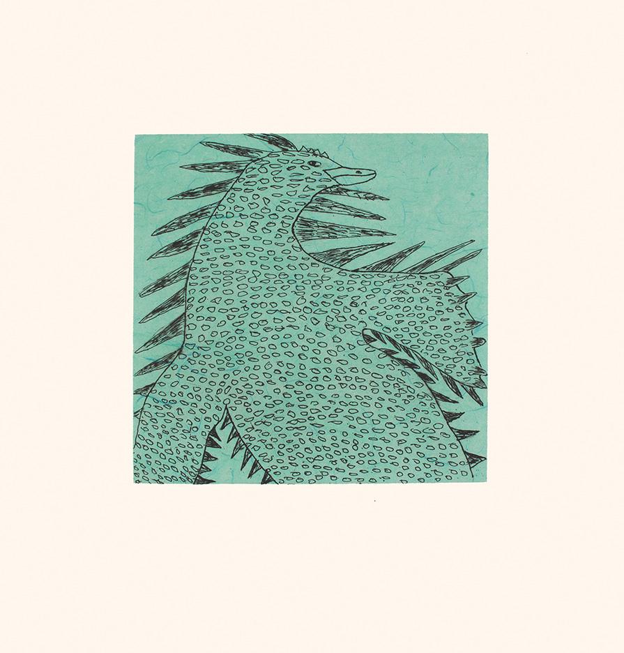NUNA PARR 7. Shoreline Spirit Etching & Chine Collé Paper: Arches White Printer: Studio PM 38 x 35.5