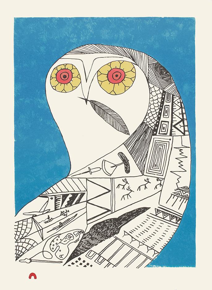 Eclectic Owl by Ningiukulu Teevee