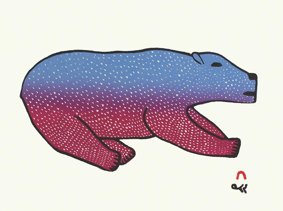 Bounding Bear by Malaija Pootoogook