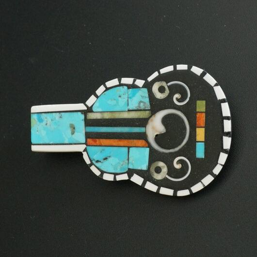 Kewa Pueblo Rock and Roll Mosaic Guitar by Mary Tafoya Native American Jewelry