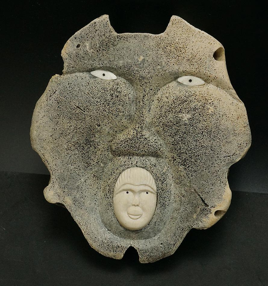 Fred Nayokpuk Alaskan Eskimo Whalebone Mask