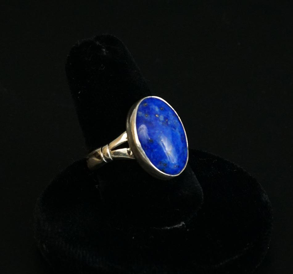 Cheryl Arviso Navajo Artist Sterling Silver Lapis Lazuli Ring
