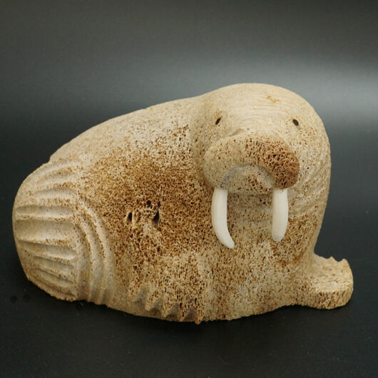 Lewis Iyakitan Whalebone Walrus Eskimo Art