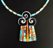 Mary Tafoya Three Swirl Necklace