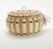 Pam Cunningham Two Tone Sewing Basket
